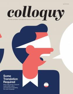 Cover of Colloquy Magazine, Winter 2018