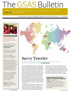 Cover of the April 2013 issue of the GSAS Bulletin