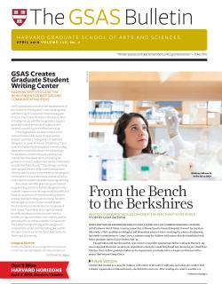 cover of the GSAS Bulletin April 2016