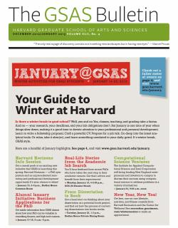 Cover of the December 2012 January 2013 issue of the GSAS Bulletin