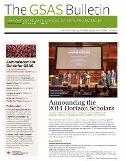 cover of the March 2014 issue of the GSAS Bulletin