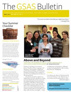 Cover of the May 2011 issue of the GSAS Bulletin