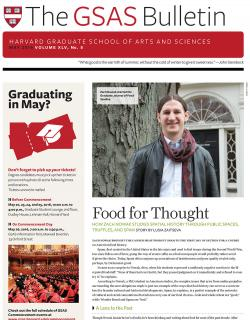 Cover of the May 2016 issue of the GSAS Bulletin