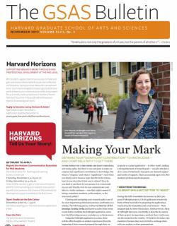 cover of the November 2013 issue of the GSAS Bulletin