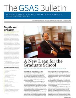 Cover of the October 2012 issue of the GSAS Bulletin