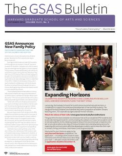 Cover of the October 2013 issue of the GSAS Bulletin