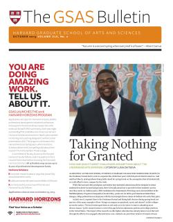cover of the gsas Bulletin October 2016