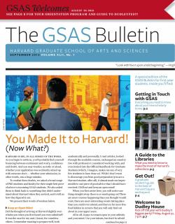 Cover of the September 2012 issue of the GSAS Bulletin