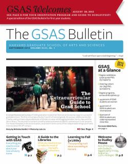 Cover of the September 2013 issue of the GSAS Bulletin