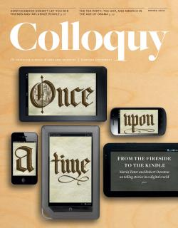 Cover of the Spring 2012 issue of Colloquy