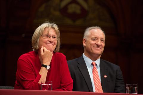 President Drew Faust and Dean Michael Smith.jpg