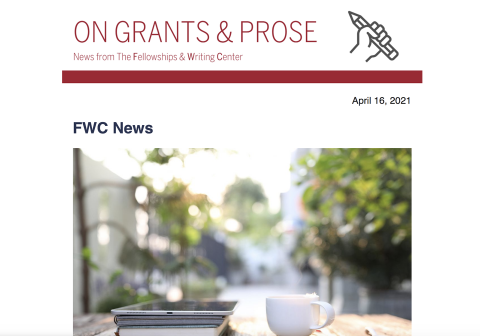 FWC Newsletter for Apr 16