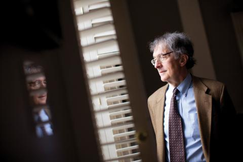 Howard Gardner looking outside a window