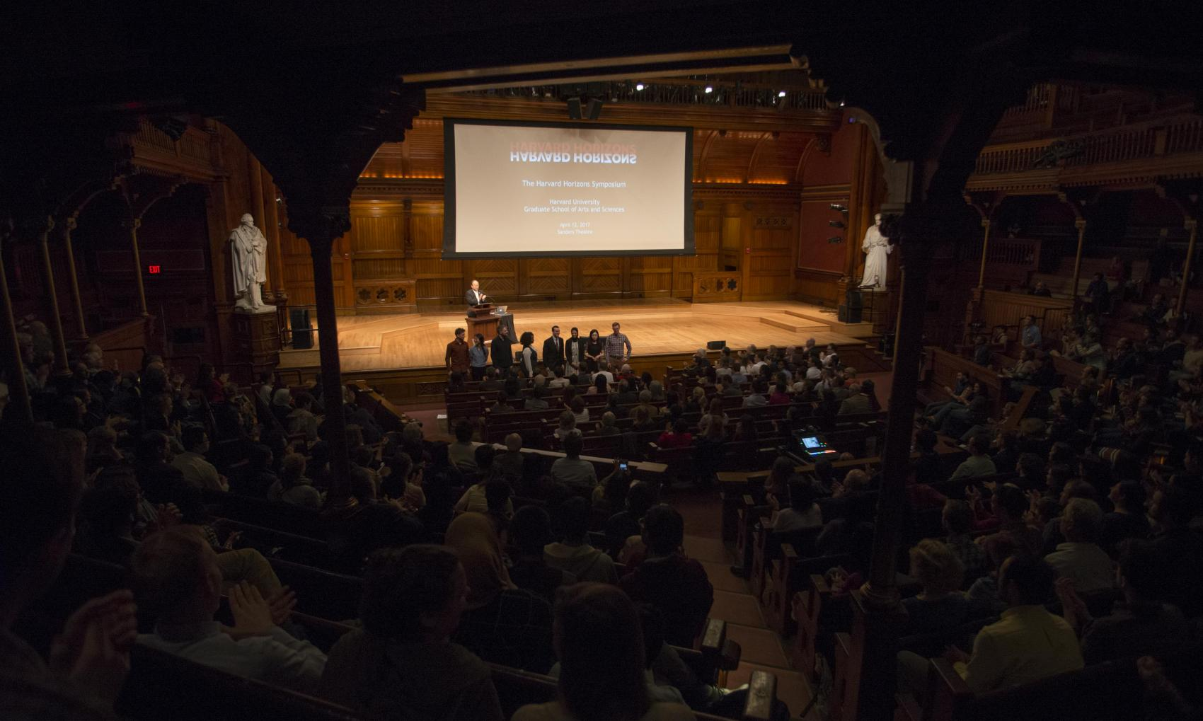 Harvard Horizons scholars in 2017 at Sanders Theatre