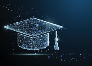 graduate cap with stars and galaxy.png