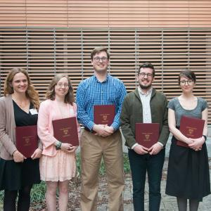 Dr. Nathan with 2017 Bok Award Winners